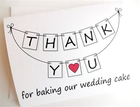 Wedding Thank You Card   THANK YOU For Baking Our Wedding