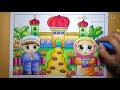 Download Video Cara Mewarnai Gradasi Crayon Oilpastel Pergi Ke