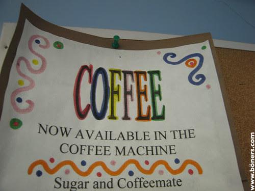 Coffee, not urine