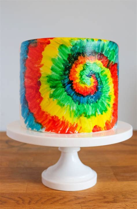 tie dye cake decorating ideas   Cake Recipe