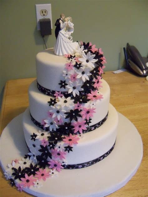 3 tier flower Wedding cake   Cake designs for any occasion