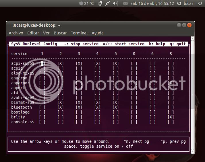 Activar/desactivar servicios al inicio de Ubuntu