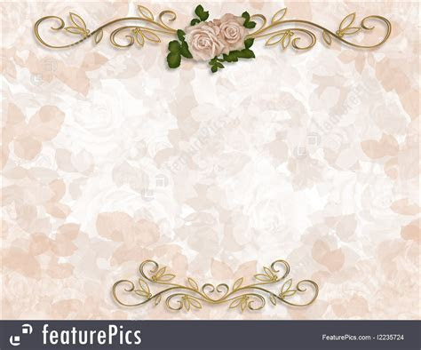 Victorian Roses Wedding Invitation Illustration