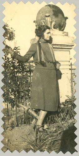 posing in the garden
