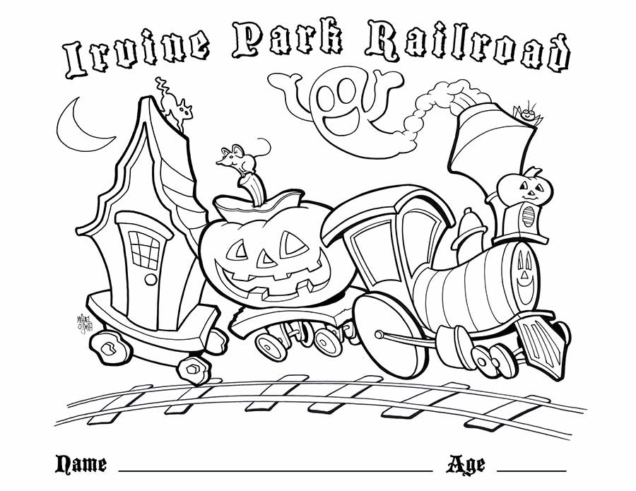 Children's Coloring Page - Irvine Park Railroad