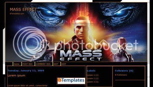 Blogger Mass Games Blue Template