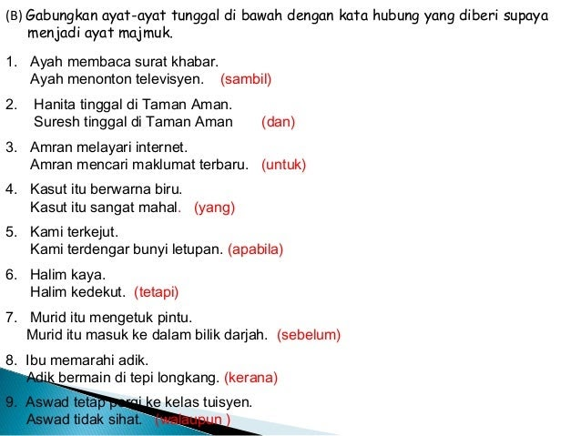 Contoh Ayat Majmuk Darjah 1 Obtenez Livre