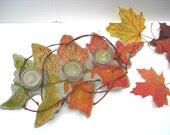 Centerpiece, candle holder, autumn leaf - JoJosArtisticDesign