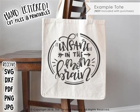 Insane In The Mom Brain SVG & Printable ? The Smudge Factory