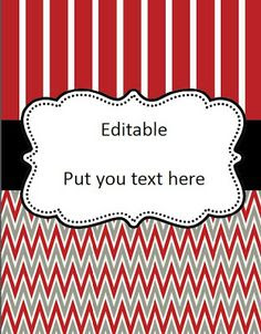This is an editable digital file of binder covers, spines, notes ...