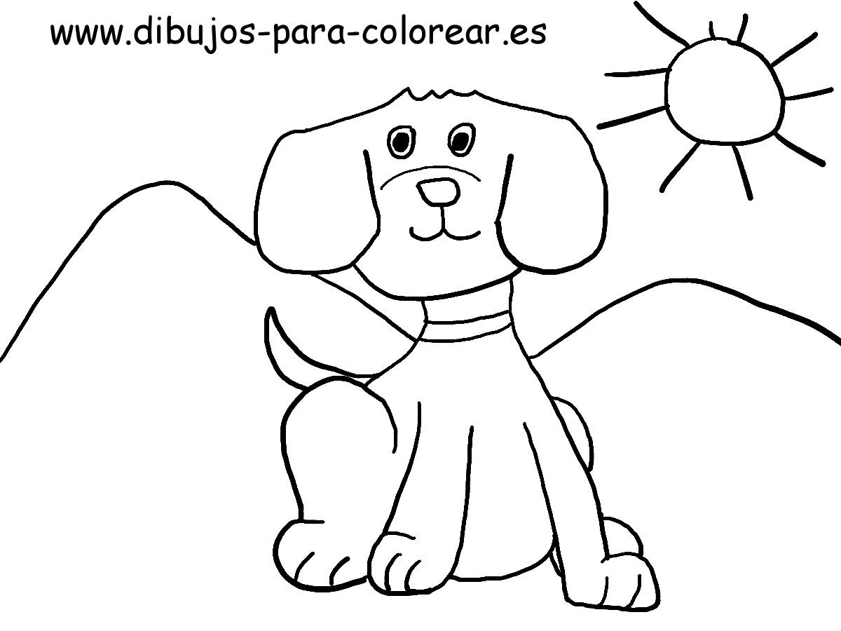 El Perro Cachorro Dibujos Para Colorear