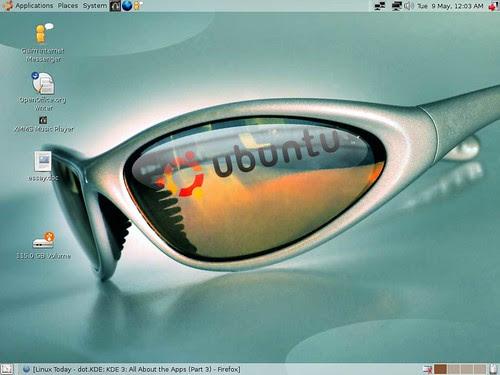 My current Ubuntu desktop wallpaper. I just like the glasses. Not sure why.