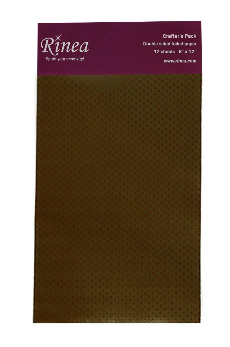 Mocha/Mocha Starstruck Rinea Foiled Paper