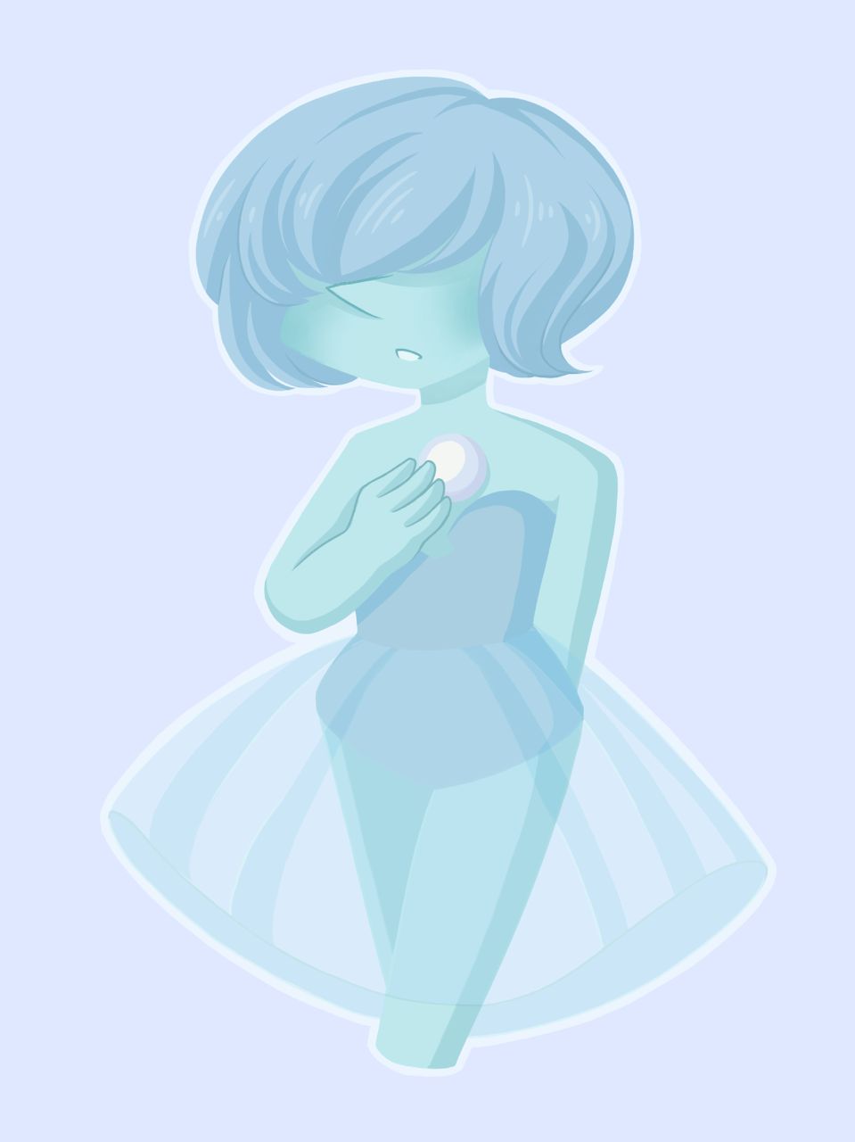 an experimental thing with blue pearl… 💎