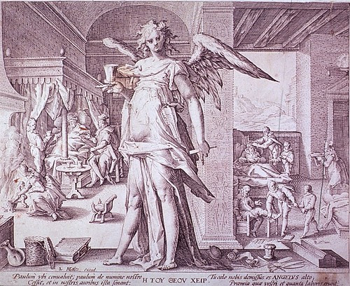 The Physician as an Angel by Hendrik Goltzius, 1587 (NLM)