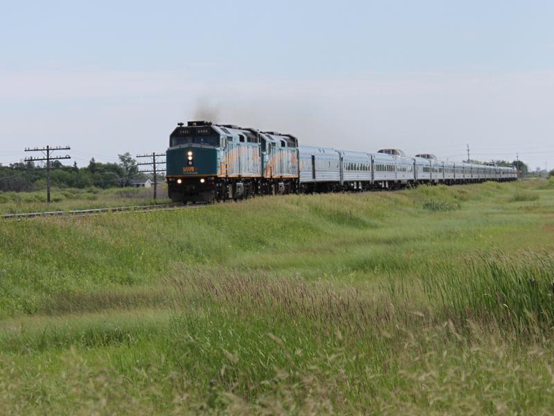 VIA 6458 in Winnipeg