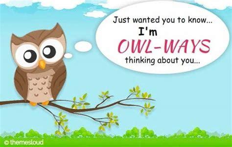 I?m Owl ways Thinking About You  Free Thinking of You