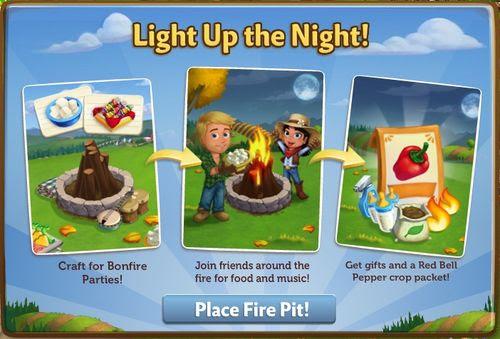 Fall Bonfire - FarmVille 2