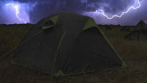 thunderstorm rain  tent sounds  sleeping