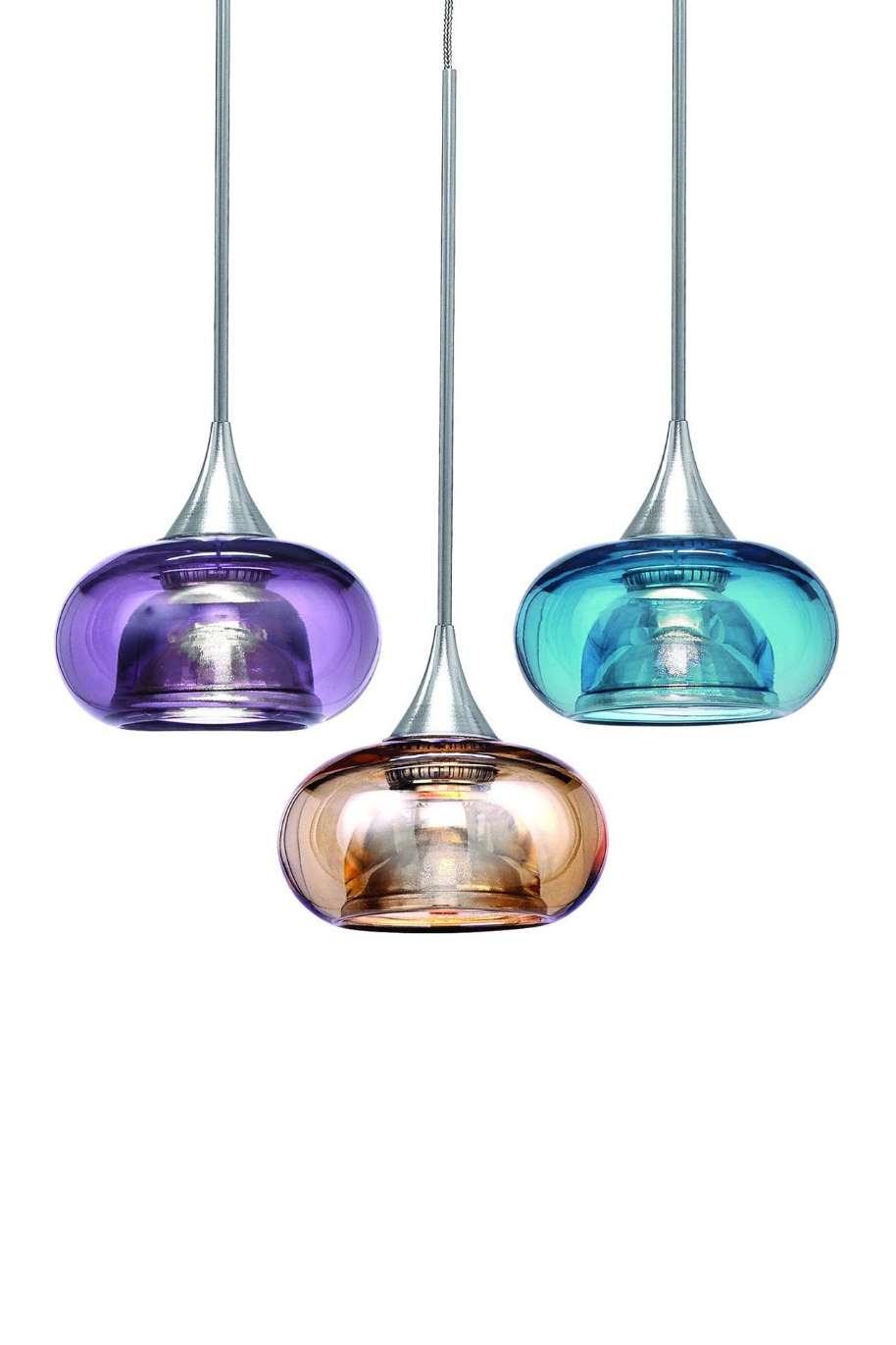 Decorative Lighting Pendants come in jewel tones., WAC Lighting