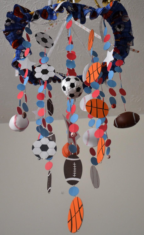 All Star Sports Mobile, (football/basketball/soccer/baseball) Nursery Decor, Baby Shower Gift, READY TO SHIP