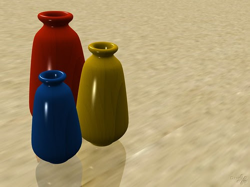 Vases - Primary Colours