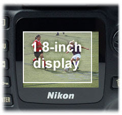The Nikon D50's large display