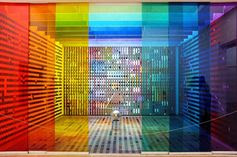 Rainbow Installation in Center Pompidou, Paris | 22 Dreamy Art Installations You Want To Live In