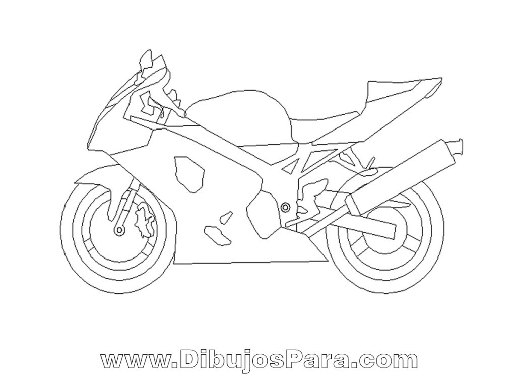Dibujo De Moto Deportiva Dibujos Para Colorear