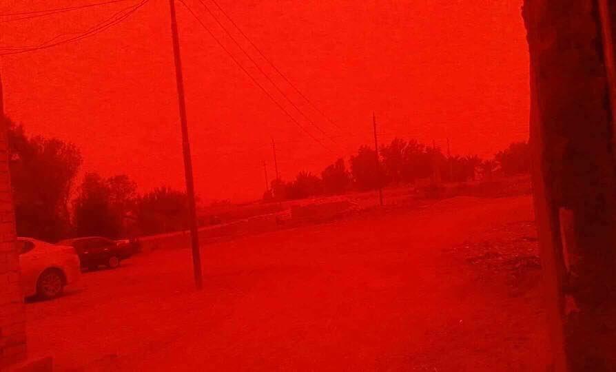 το αίμα κόκκινο ουρανό Ιράκ, το αίμα κόκκινο ουρανό iraq καταιγίδα βίντεο, το αίμα κόκκινο ουρανό iraq φωτογραφίες καταιγίδων μπορεί να 2018, βιβλική καταιγίδα Ιράκ, βιβλική καταιγίδα Ιράκ μπορεί να 2018,