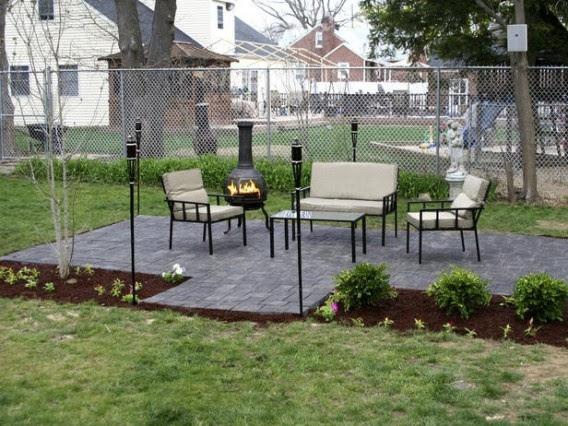 Backyard ideas with patio stones