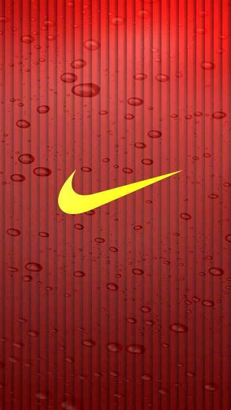 Yellow Nike Logo iPhone 6 / 6 Plus and iPhone 5/4 Wallpapers