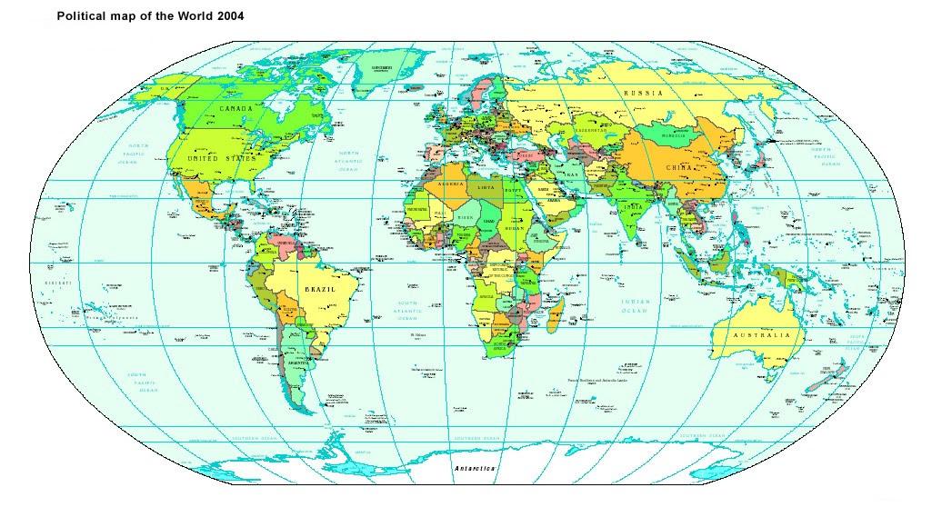World Political Map 2004