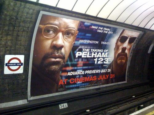 Taking of Pelham 123 Tube Poster by James Cridland