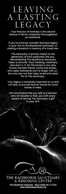 Leave A Legacy The Racehorse Sanctuary
