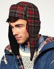 Gant Tartan Trapper Hat