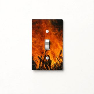 Raging Fire Light Switch Cover