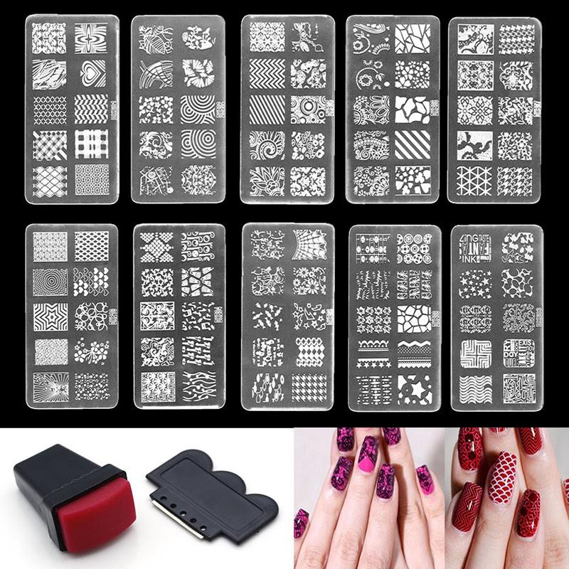 Rubber Plastic Manicure Gel Polish Nail Art Scraper Stamp ...