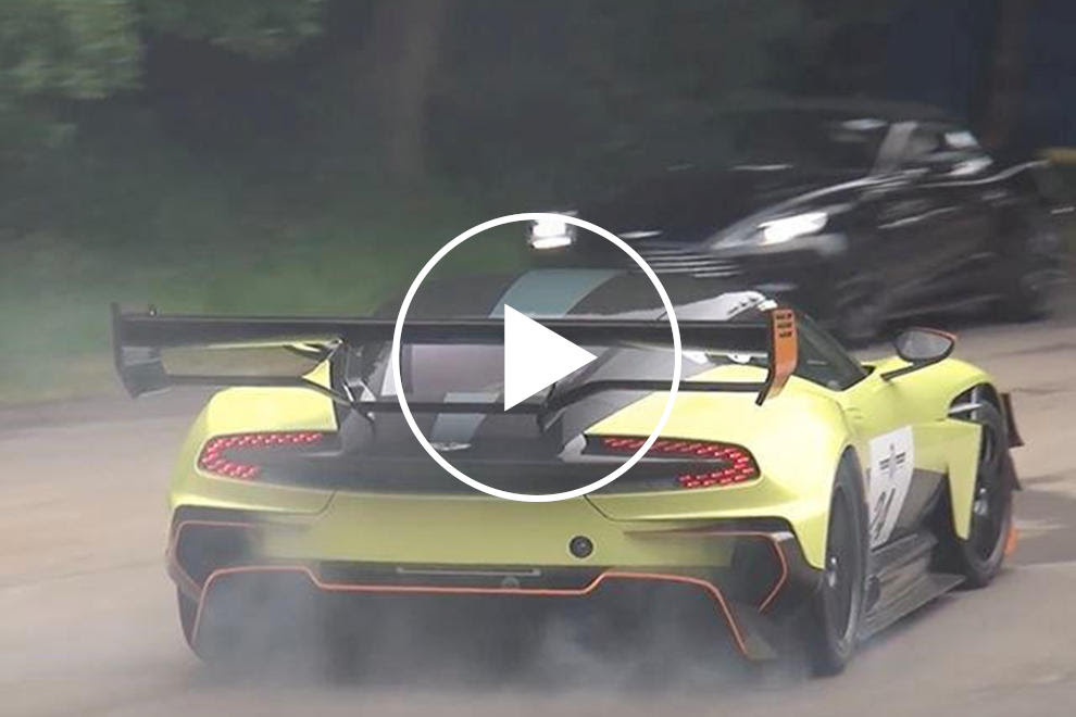Watch The Aston Martin Vulcan Amr Pro Tear Up Its Tires At Goodwood Carbuzz