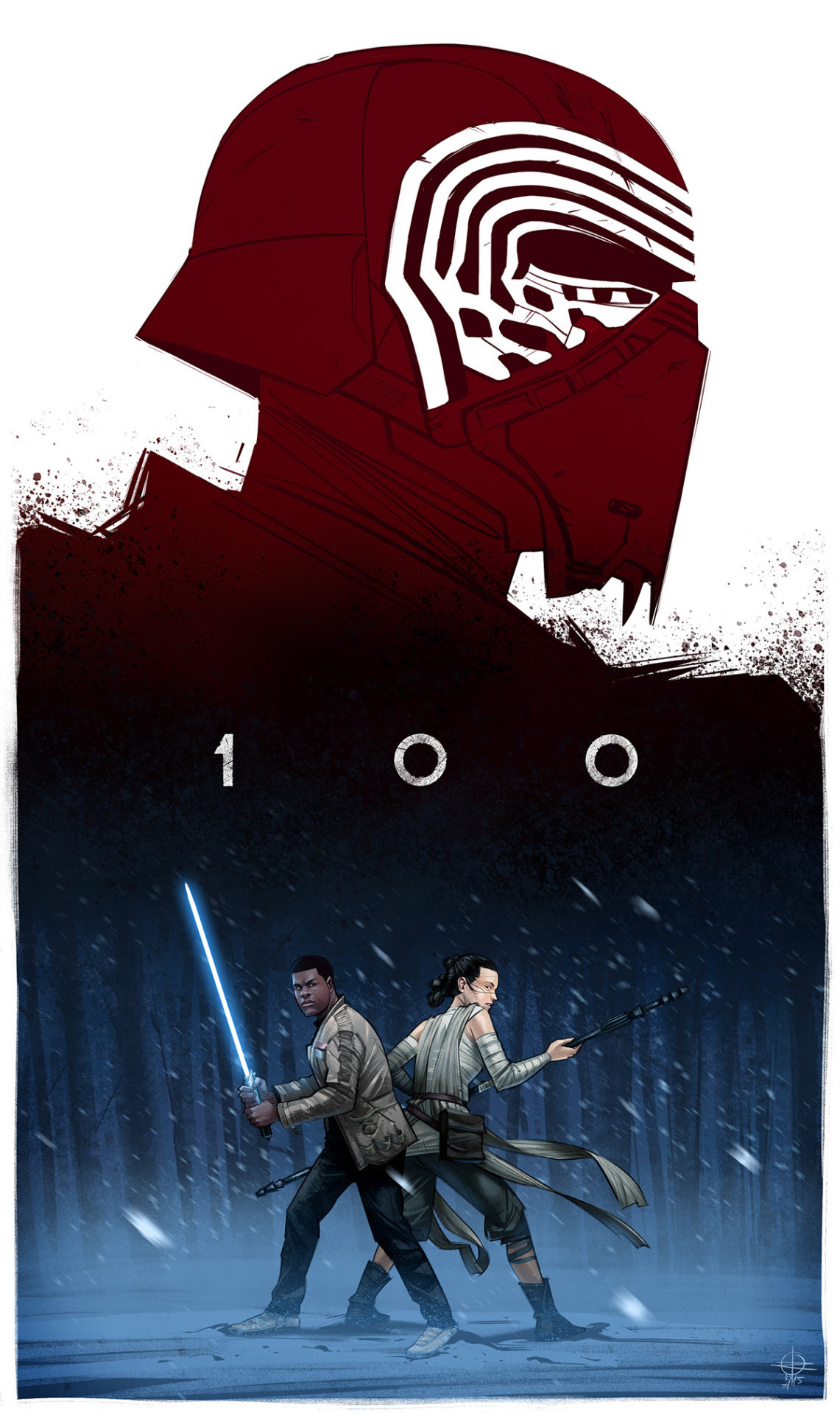 The Force Awakens 100 by Renaud Roche