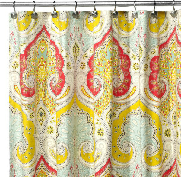 Echo Design™ Jaipur Fabric Shower Curtain - contemporary - shower ...