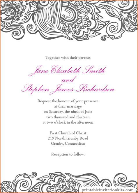 8  wedding invitation template word   bookletemplate.org