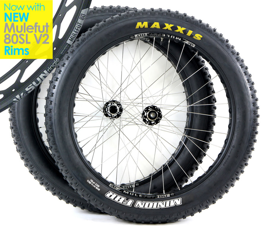 Free Ship 48 States Fat Bike Wheels Promo Sale Pair Of Fatbike Sunringle Mulefut Tubeless