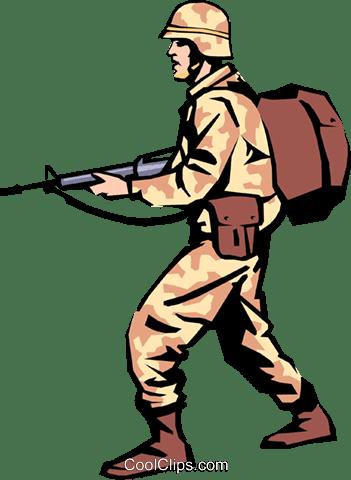 軍人 ロイヤリティ無料ベクタークリップアートイラスト Peop0858