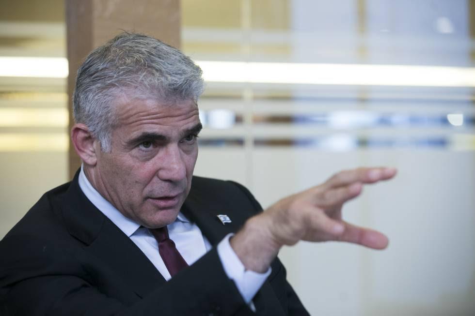 Lapid, durante la entrevista en Madrid.