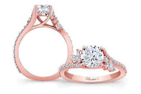 rose gold engagement rings designed  barkevs