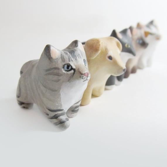 Custom pet pocket totem figurine