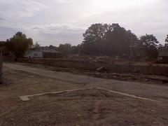 Franklin: train depot building gone
