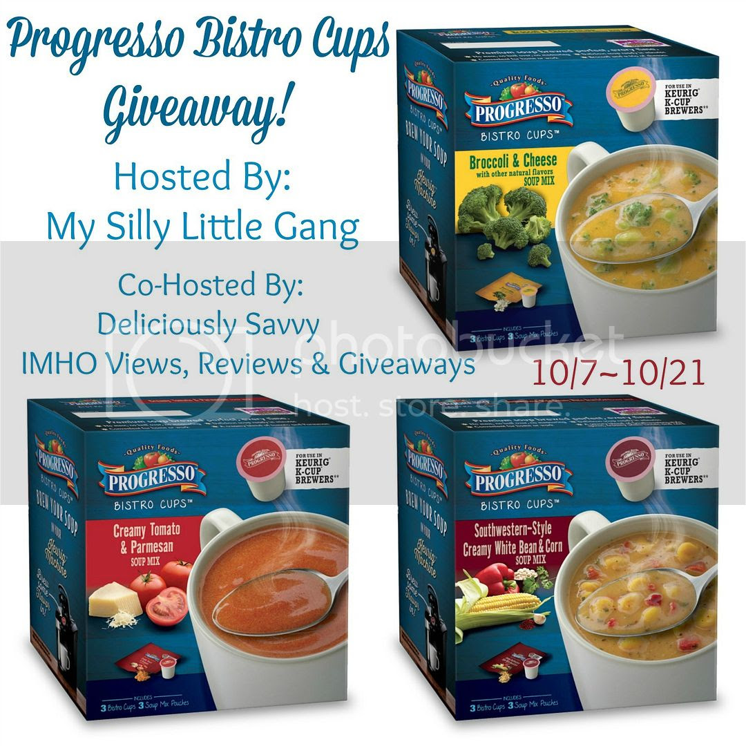 Enter the Progresso Bistro Cups Giveaway. Ends 10/21