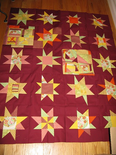 Wonky Star/Ketchup quilt